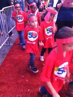 Clifford fans in their birthday gear.