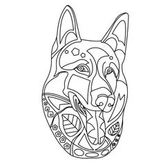 Dogs: Coloring Book for Adults and Dog Lovers: Best Hand