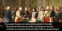 """Le """"Qui a dit"""" du jour. Indice : nous sommes à Erfurt en 1808... #histoire de #France en #citations"""