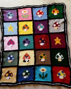 Mario Mushroom blanket by stephyw2001 on Etsy