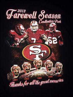 San Francisco 49ers Farewell Season Candlestick Park XXL Black T Shirt