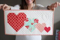 I Heart You Free Mini Quilt Pattern | Cluck Cluck Sew | Bloglovin'
