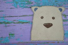 Animal iron on patch applique for clothing Bear applique for boys and girls DIY patch applique
