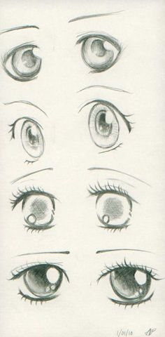 Anime eyes I made for days! I used some reference in SOME eyes. But some are mine. The reference are in a book of how to draw anime... That my mom bought me 5 years ago. #mangadrawing