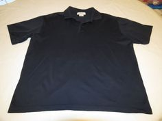 Mens Franco Ziche L navy blue cotton short sleeve polo shirt casual Italy EUC@ #FrancoZiche #PoloRugby