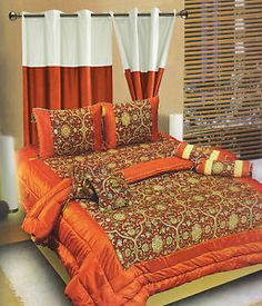 Dekor World Royal Jacquard Bedding Set Of 8 Pcs With Matching Curtain Ft