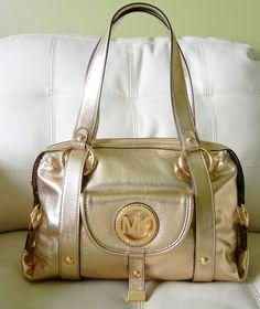 New Michael Kors Fulton Large Satchel Leather Handbag Pale Gold w/Dust Bag #MichaelKors #ShoulderBag