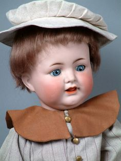 """SO ADORABLE 20"""" KAMMER & REINHARDT 126 CHARACTER TODDLER c1912 So CUTE!  Adorable toddler boy will charm all of your girl dolls!"""
