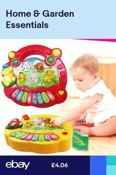 UK Musical Educational Animal Farm Piano Developmental Music Toys for Baby Kids Toddler Gifts, Toddler Toys, Gifts For Kids, Kids Piano, Developmental Toys, Educational Toys For Kids, Music For Kids, Cute Toys, Infant Activities