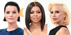Taraji P. Henson at an event for The Primetime Emmy Awards Celebrity Makeup Looks, Celebrity Beauty, Celebrity Style, Cool Haircuts, Bob Hairstyles, Medium Hair Styles, Short Hair Styles, Celebrity Plastic Surgery, Heart Face