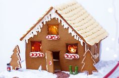 ...make our gingerbread house from scratch!