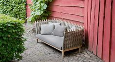 Wabi - Armchair and sofa. The Wabi series also includes a lawn-swing available in the same finishings.