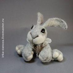 Игрушки животные, ручной работы. Ярмарка Мастеров - ручная работа Авторская игрушка из шерсти - зайчонок. Handmade.