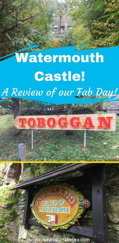 Watermouth  Castle Theme park in Devon makes for a fab family day out in the UK! We visited Gnome land and panned for gold and we rode the toboggan! Read our full review here!