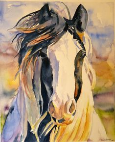 Windy Watercolor Art Print by Maure Bausch.