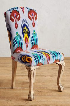Marialle Ikat Dining Chair - anthropologie.com.  I like the chair a lot, I like the color, the pattern is a little much though