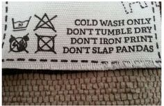This is hilarious! Funny Clothing Labels – The Hidden Humor In Your Pants Pics) Funny Images, Funny Pictures, Laundry Humor, Laundry Room, Dump A Day, Clean Memes, Funny Captions, Funny Outfits, I Love To Laugh