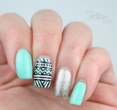 the Yellow Nails: 31 day nail challenge | Day 16: Tribal print