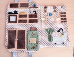 Кукольный дом ручной работы. Кукольный домик-сумочка. Iryna Korotkevich. Интернет-магазин Ярмарка Мастеров. Сумочка для девочки