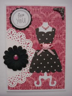 I love making polka dot dresses with my Stampin Up dress die.