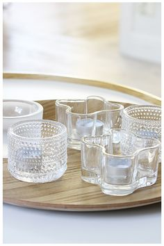 Iittala candle holders http://www.entrepo.co.za/product/kastehelmi-tea-light-holder/