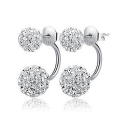 2015 Hot Sale Ear Cuff Earrings Sterling Silver Earrings S925 Dual Princess Earrings Jewelry By Bandy From Bandy, $1.47 | Dhgate.Com