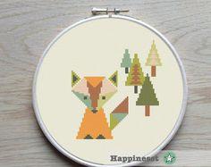 modern cross stitch pattern Yorkshire terrier flower par Happinesst