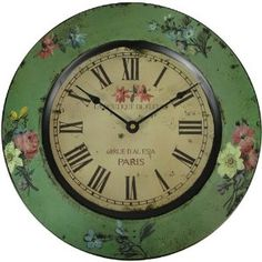 Ahh... vintage green! LOVE this old clock!