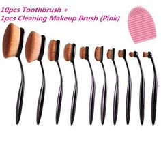 Set Protool Toothbrush Oval Makeup Brush Foundation BBCream Powder Blush in Health & Beauty, Makeup, Makeup Tools & Accessories Love Makeup, Beauty Makeup, Makeup 2016, Beauty Tips, Oval Brush Set, Brush Sets, Makeup Brush Set, Eyebrow Brush, Makeup Products