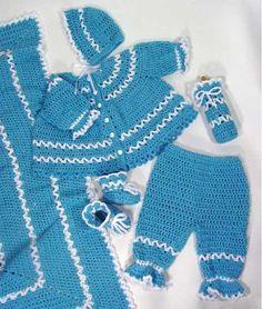 Maggie's Crochet · Blueberry Baby Layette Crochet Pattern