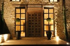 Entrance to house in large French estate. So handsome.