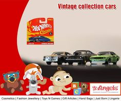 Take your kids to vintage period, Vintage collection cars available @ Angels Family Shop  Visit: www.angelsfamilystop.com  #MakeupTip #AngelsFamilyShop #Cosmetics #FashionJewellery #GiftArticles #HandBags #JustBorn #Lingerie #ToysNGames