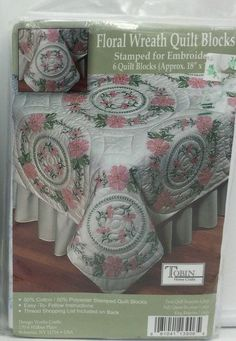 """Tobin Stamped for Embroidery Napkins SNOWFLAKES 15/"""" Pack of 6"""