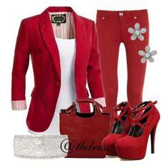Dashing Red Look