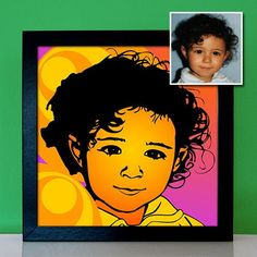 Children's Portrait Pop Art - Personalized Photo of Child, Grandson, Son, Daughter as a Retro Artwork in Style Beste Mama, Pop Art Portraits, Parent Gifts, Blogger Themes, 70s Fashion, Retro, Daughter, Children, Bunt