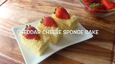 How to make cheddar chesse sponge cake / Resep Bolu Keju Cheddar