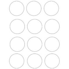 Free Circle Template Printables - Circles You Can Print! - Manda J Bunting Template, Cake Templates, Circle Template, Heart Template, Templates Printable Free, Printables, New Kitchen Gadgets, Felt Coasters, Bacon In The Oven