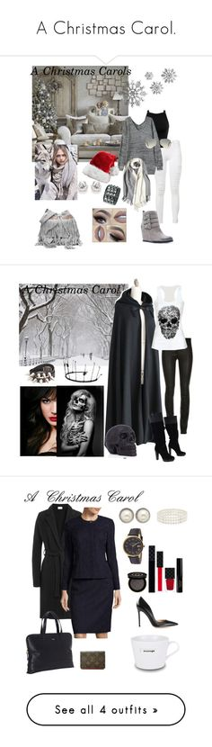 """""""A Christmas Carol."""" by poetrydesigns11 ❤ liked on Polyvore featuring MANGO, Frame Denim, Miss Selfridge, Qupid, Ray-Ban, IVI, BCBGMAXAZRIA, American Vintage, Knomo and Louis Vuitton"""