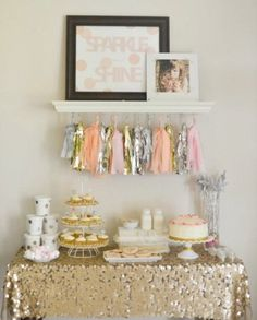The stunning Sparkle Shine Glitter Glam Glitzy Girl Birthday Party Inside Glitter Party Decorations Ideas photo below, is segment of … Glitter Birthday Parties, First Birthday Parties, Birthday Party Themes, Girl Birthday, First Birthdays, Birthday Ideas, Birthday Diy, Birthday Outfits, Birthday Dresses