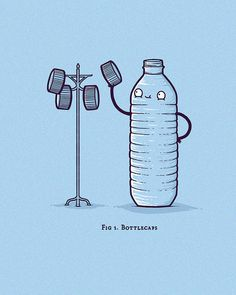 Bottlecaps by randyotter, via Flickr #compartirvideos #humor #imagenesdivertidas