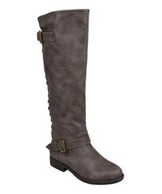 Another great find on #zulily! Taupe Stud Spokane Boot #zulilyfinds