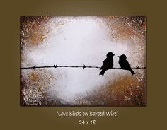 Love Birds on barbed wire