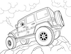 89 best coloring cars images coloring pages coloring pages for 2014 Jeep Wrangler free jeep coloring pages to print procoloring free