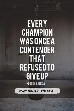 Every #champion was once a contender that refused to give up.
