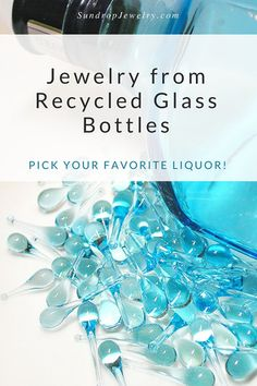 """One of the most common questions we get is, """"Is the glass recycled?"""" With these colors, the answer is yes! Sun-melted recycled glass bottles and stained glass jewelry. Bottle Jewelry, Glass Jewelry, Glass Beads, Glass Marbles, Bottle Art, Jewellery, Melting Glass, Recycling, Fused Glass"""