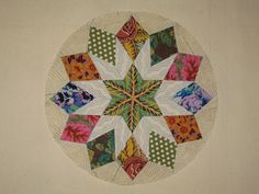Camelot # 14 | by impstwo Quilt Block Patterns, Pattern Blocks, Quilt Blocks, Circle Quilts, Star Quilts, Quilting Projects, Quilting Designs, English Paper Piecing, Quilt Making