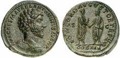 AE Sestertius. Roman Coin, Roman Empire, Marcus Aurelius 161-180 AD. 161 AD. 26,65g. RIC 276, 796. EF. Price realized 2011: 4.500 USD.