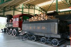 Virginia & Truckee Railroad steam locomotive Tahoe #20 (1875) with tender at Railroad Museum of Pennsylvania. Strasburg, PA.