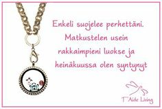 """We are so happy to share our Women's Day competition winners Riitta H locket: """" Angel is protecting our family. I travel often to meet my loved ones and I'm born in July"""""""