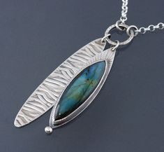 OOAK Long Labradorite Sterling Silver Pendant by JenLawlerDesigns